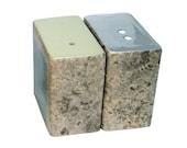 Dinky Modern Ceramic Salt & Pepper Pots / Shakers / Cellars (Speckle Grey and Sage)
