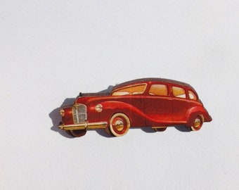 Antique 1950 Car  Brooch   B1524
