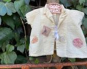 Antique toddler jacket shabby farm style decor studio shop prairie barn like Anthropologie magnolia French pearl country nursery rustica