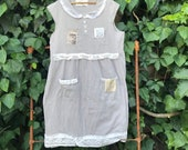 Simple soft gray summer dress vintage lace cowgirl ranch magnolia pearl Wyoming lace