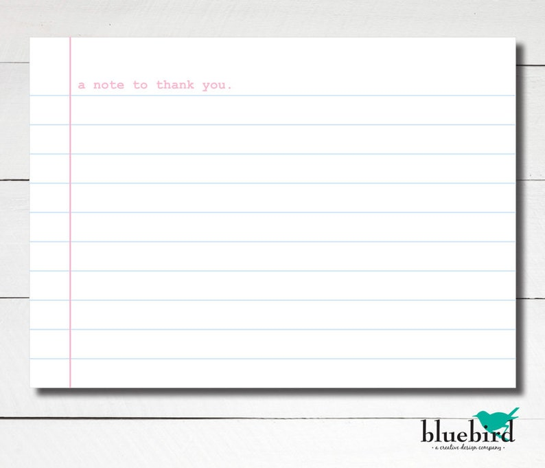 photograph about Printable Loose Leaf referred to as A6 Notepaper thank on your own flat card observe - Free leaf paper Instantaneous Down load Do it yourself Printable