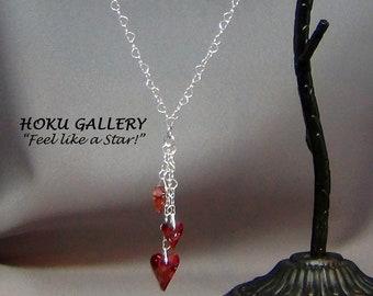 Swarovski Crystal Heart Necklace - Hoku Gallery,  Hand Crafted Artisan Jewelry