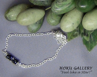 Swarovski Crystal and Sterling Silver Chain Bracelet - Hoku Gallery,  Hand Crafted Artisan Jewelry