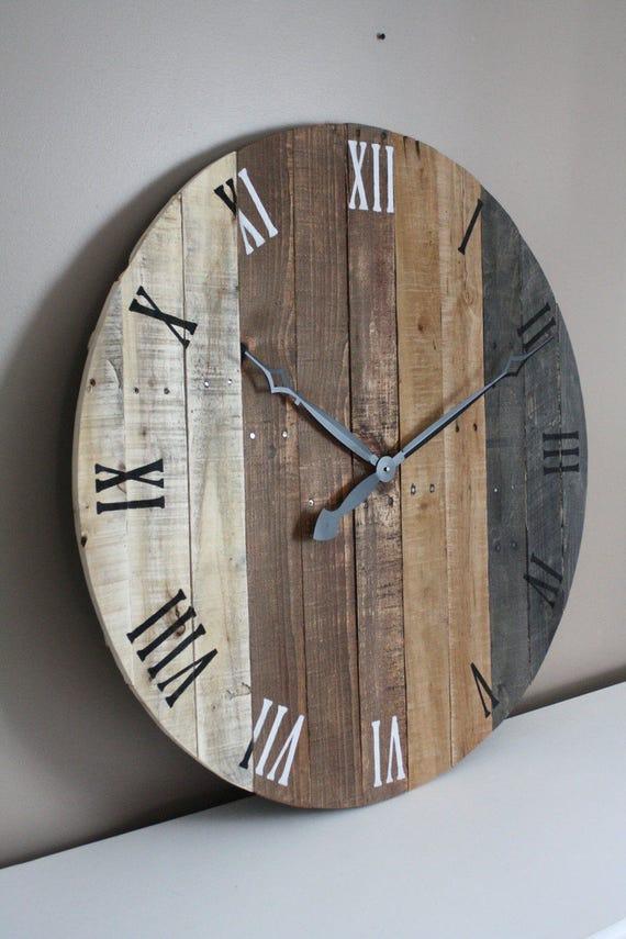 36 inch wall clock Large rustic wall clock modern FARMHOUSE clock 36 inch | Etsy 36 inch wall clock