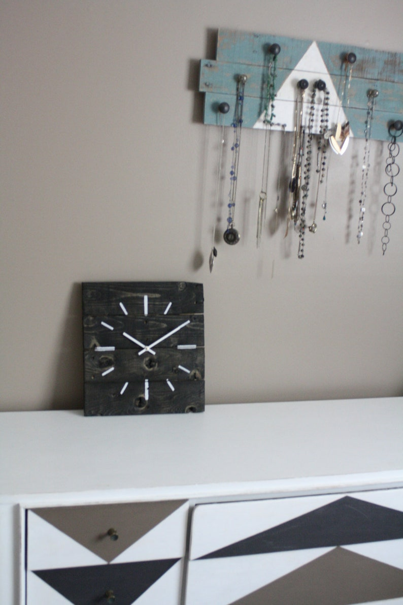 Modern Black And White Wall Clock Contemporary And Hip Gift Etsy