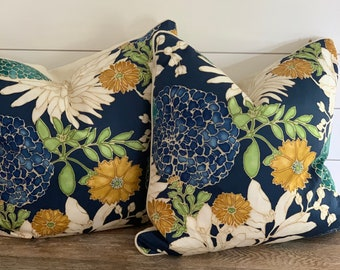 Rustic Toile Decorative Throw Pillow Cushion Cover Farmhouse Cottage Toile De Jouy yellow green beige decor french 16*24 inch