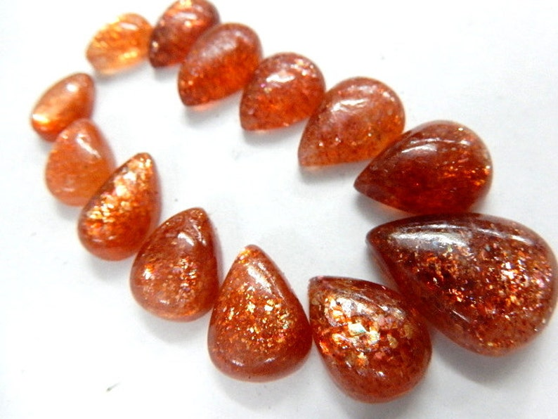 Sunstone Gemstone,Natural Sunstone,Sunstone Pear,Gemstone Cabochon Sunstone Cabochon