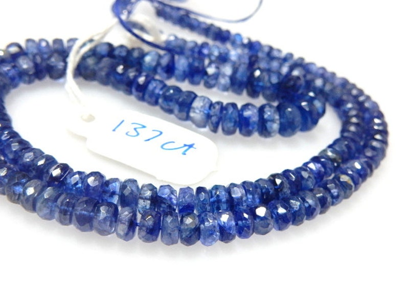 Kyanite,Kyanite Beads,Kyanite Rondelle,Faceted Beads,Gemstone AAA Quality Size 4 To 7MM approx  18/'/' Natural Wholesale Price