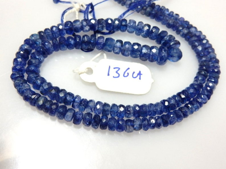 Kyanite,Kyanite Beads,Kyanite Rondelle,Faceted Beads,Gemstone,AAA Quality Size 4 To 7MM approx 18/'/' Natural  Wholesale Price