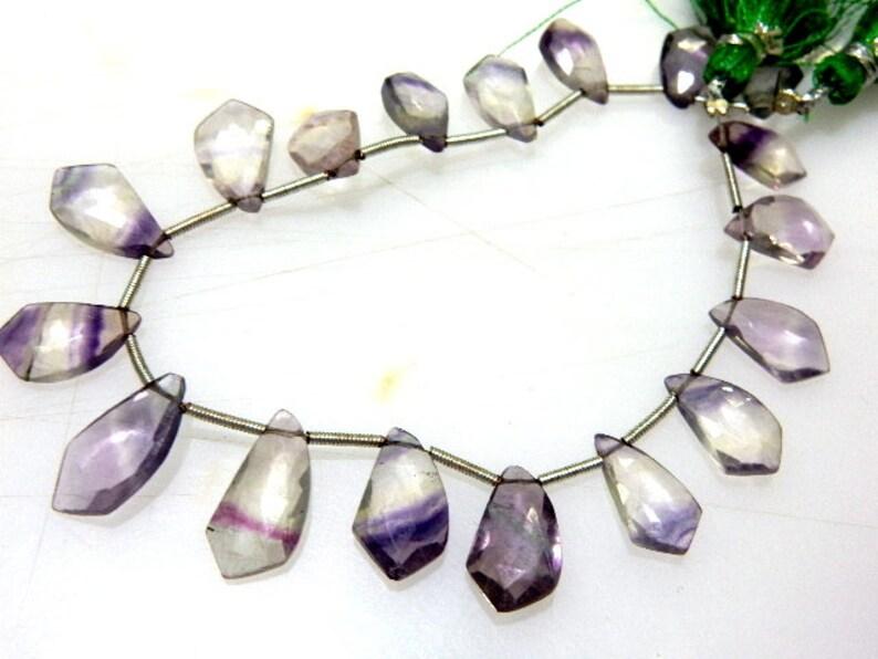 8/'/',Fluorite Beads,AAA Fluorite Gemstone Fancy Shape Beads,Fluorite Briolette,Gemstone Beads,Size-7x14-10x17MM,18Pc,Rainbow-Fluorite Beads,