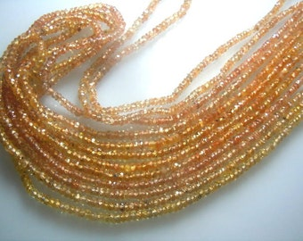 Songea Sapphire Rondelle Faceted Beads Gemstone AAA Quality 3 To 4 MM 14''  100% Natural  Wholesale Pricee