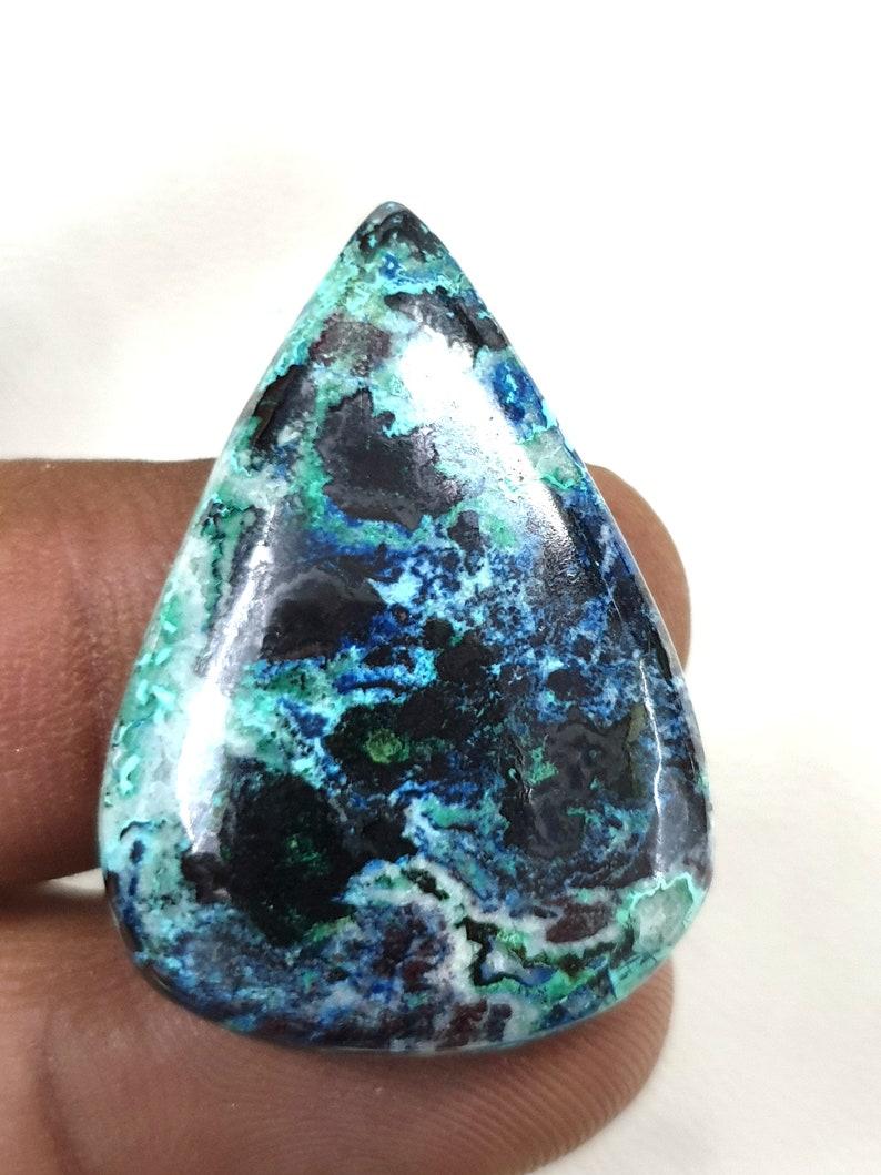Square shape beautiful azurite cabochon natural blue azurite loosegemstone