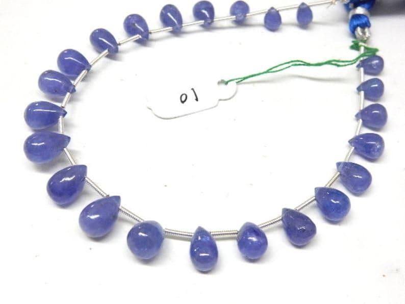 Tanzanite Beads,Tanzanite-Tear-Drops,Beads-Super Top AAA High Quality Dark Blue Tanzanite Smooth Briolette Tear-Drops Size-5-8MM Tanzanite