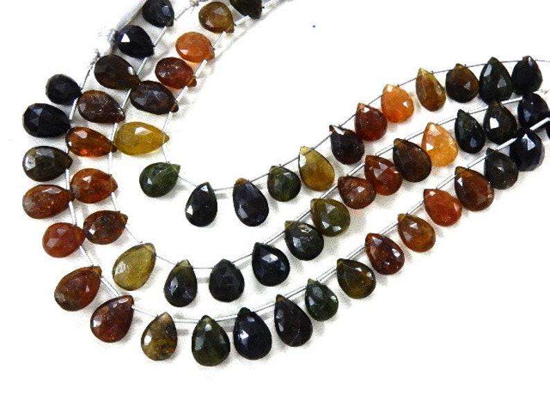 Tourmaline,Tourmaline Beads,Tourmaline Pear-Drops,Tourmaline Briolette,AA Faceted Drops Size-10x12-9x14MM 315Carat-3 Strand