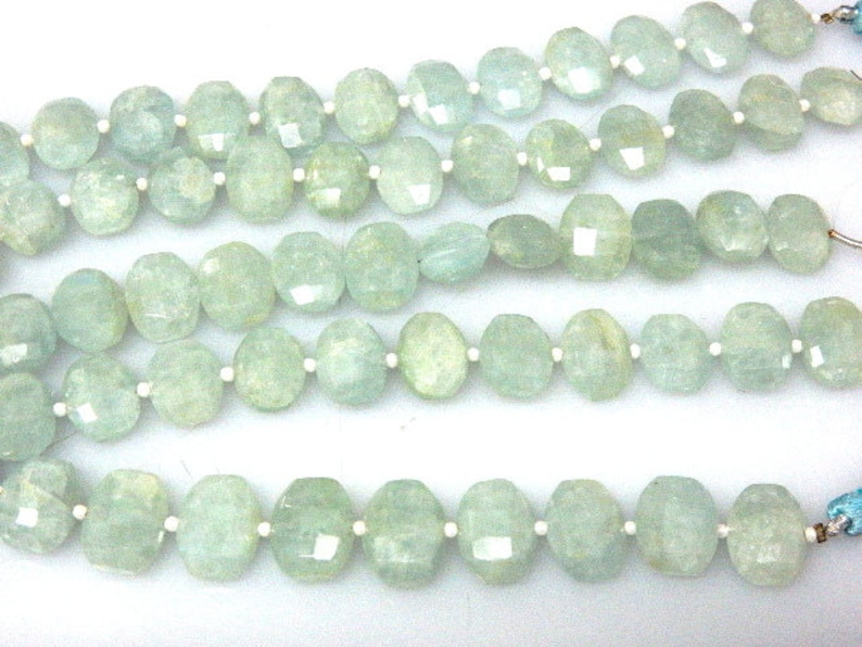 Natural Milky Aquamarine Gemstone Faceted Oval  Beads AAA Quality Size 10x14MM Wholesale Price