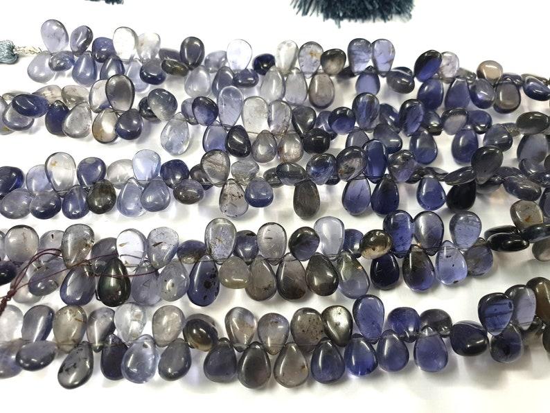 Iolite Beads,Gemstone Beads,loose Stone Beads,Pear Drops,Nice Blue