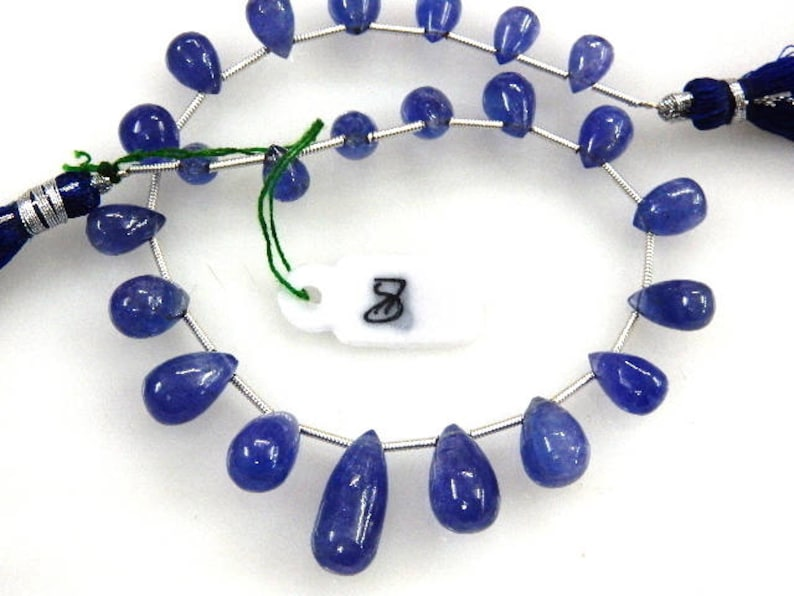 Tanzanite Beads,Tanzanite-Tear-Drops,Beads-Super Top AAA High Quality Dark Blue Tanzanite Smooth Briolette Tear-Drops Size-5-8MM