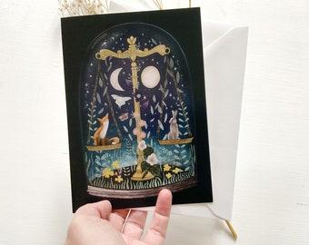 Birthday card, for Libra, zodiac sign