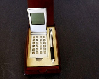 Vintage Desk Set, Calculator And Ball Point Pen Set, Desk Accessories, Office  Accessories, Accessories