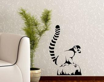 Lemur Mondey Vinyl Wall Decal Art