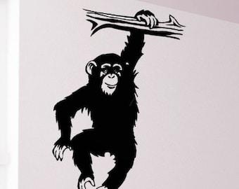 Monkey  Around Chimp Vinyl Wall Decal Art