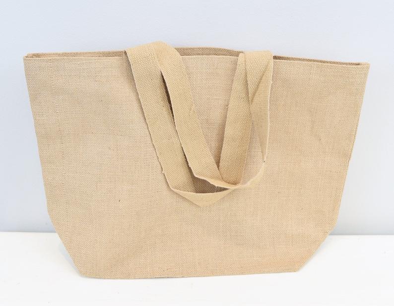 7dba8b52dc54ed Pack of 5 Large Jute Tote Bag 20x14x6 Natural Burlap | Etsy