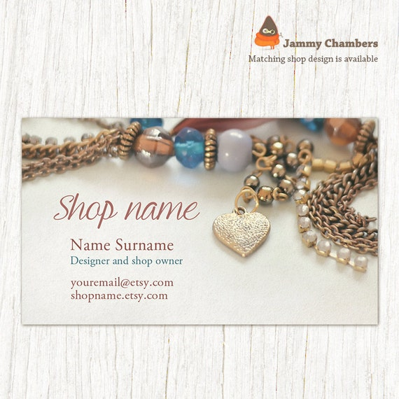 Business card template business cards jewelry business etsy image 0 cheaphphosting Image collections