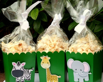 Jungle Safari Party Goodie Boxes Set of 12