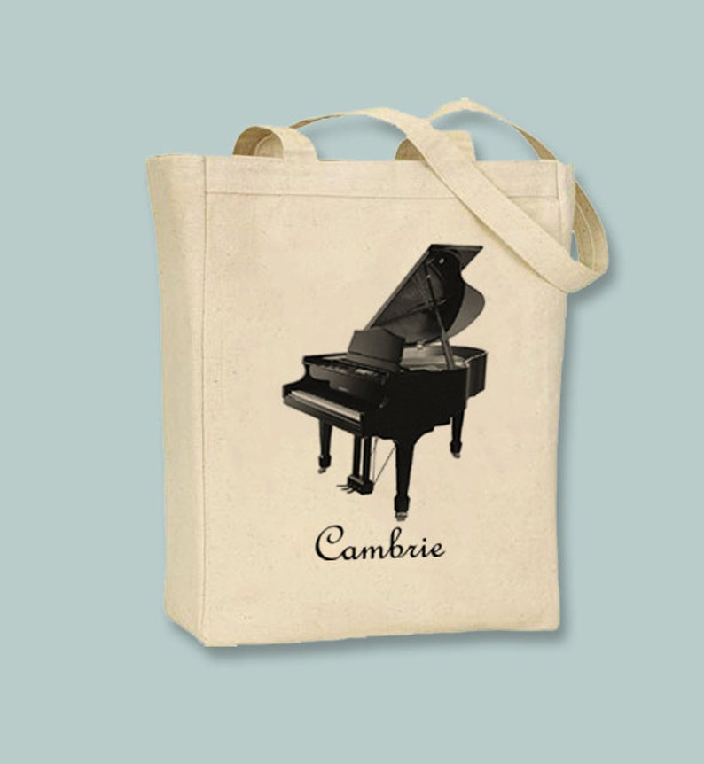 Grand Piano Canvas Tote  Selection of sizes and image 0