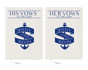 Nautical Wedding Vows Books Custom Vows Books Marriage Vow Books Wedding Vows Books Vow Booklet