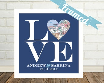 Philadelphia Love Sign Wedding Gift for Couple Heart Map Art Custom Wedding Gift Personalized Engagement Gift Holiday Gift Christmas Gift