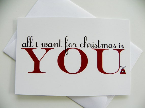 Romantic christmas card all i want for christmas romantic m4hsunfo