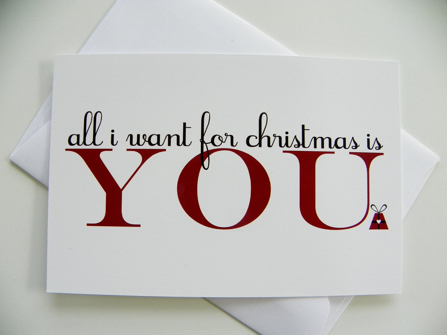 romantic christmas card all i want for christmas romantic | etsy