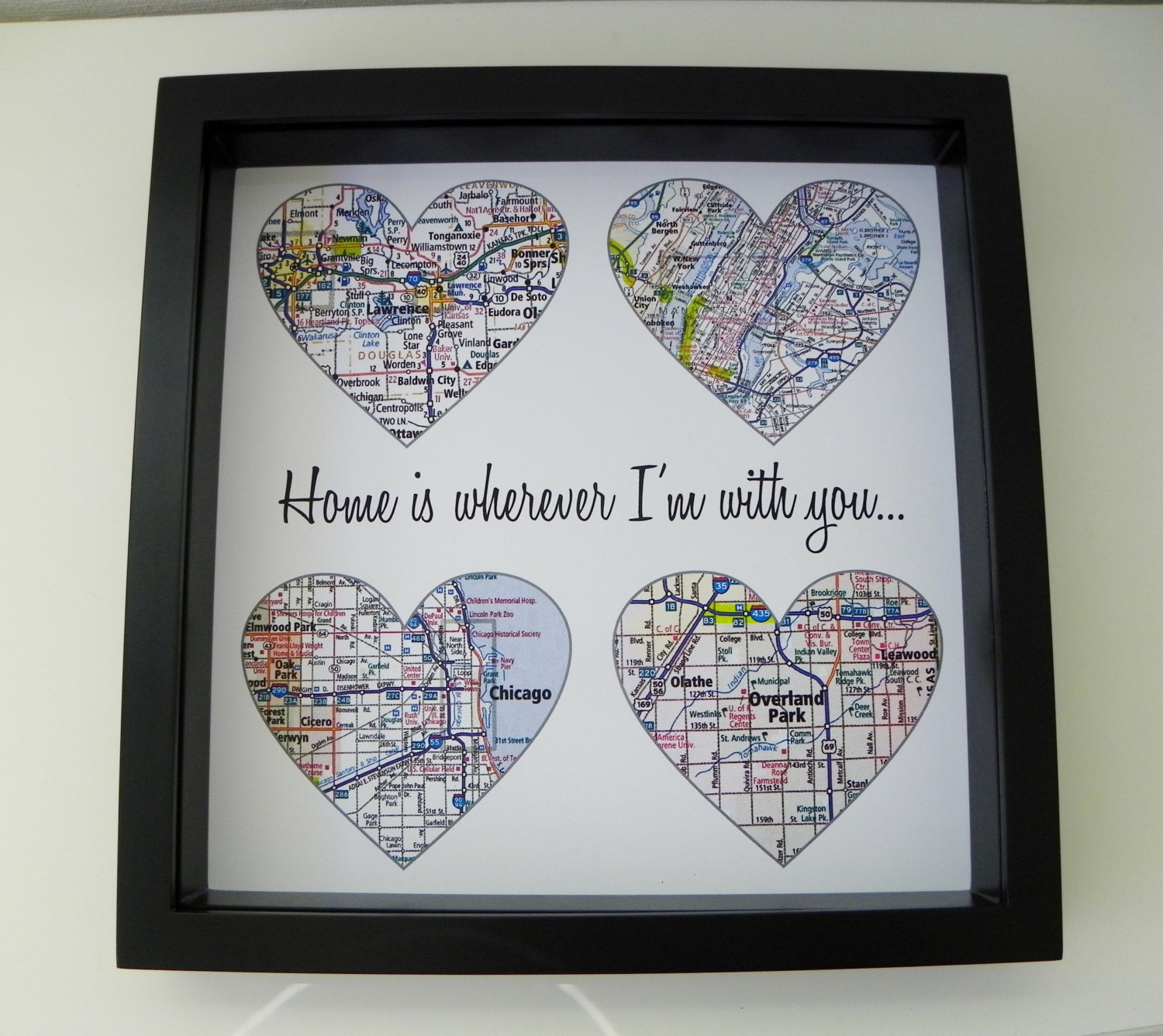 7b371396cd138 Anniversary Gift Ideas For Him Wedding Gifts Personalized Map