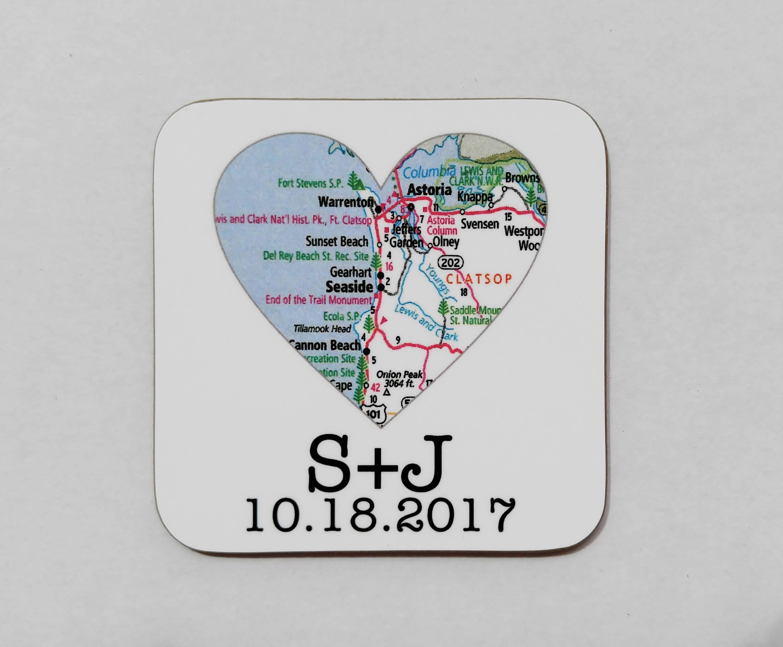 Personalized Coasters Wedding Gift: Personalized Wedding Coasters Wedding Favors Party Favor