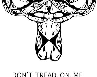 DON'T tread on me: uterus - pro choice - roe vs wade- SVGPSD