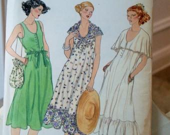 UNCUT FF Vogue 7080 Misses Plus Size SunDress Size xs-xl Vintage Sewing Pattern
