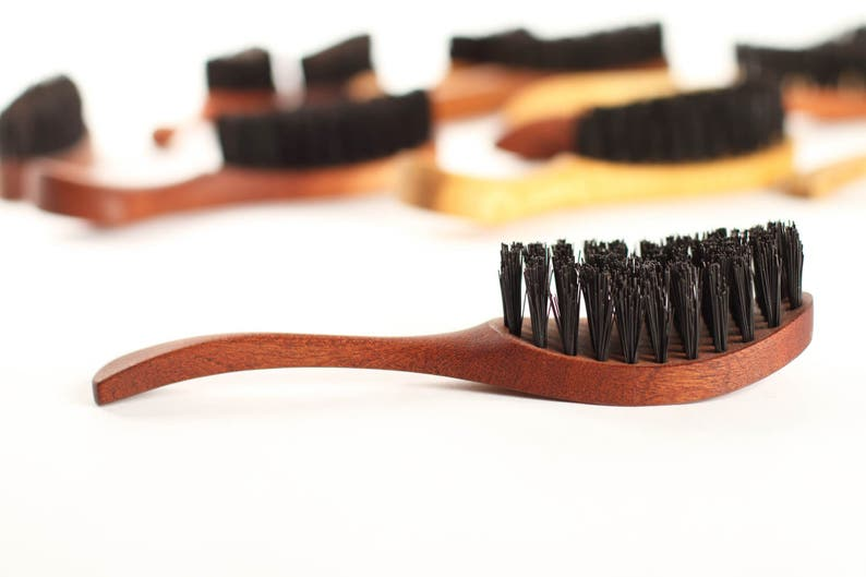 Natural Boar bristle hairbrush Handmade gift for Ladies Children Woman  Bride hair care Gift idea Perfect by WildGood conscious lifestyle