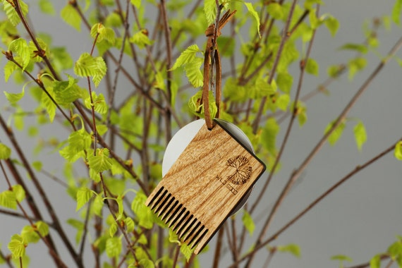 Eco design Wooden comb for boar bristle hair brush cleaning Hair brush  cleaner Small wooden comb by WildGood for natural hair care