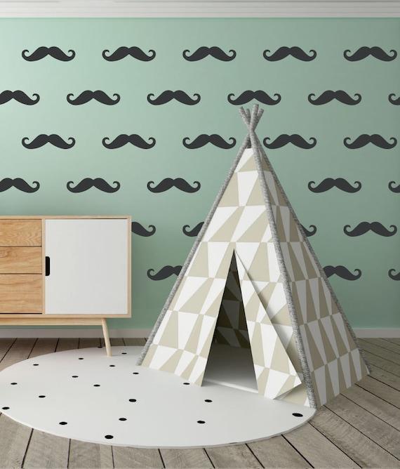 Mustache Wall Decals Set Of 24 Sticker Mustaches