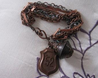 Industrial Looking Multi Chain Bracelet