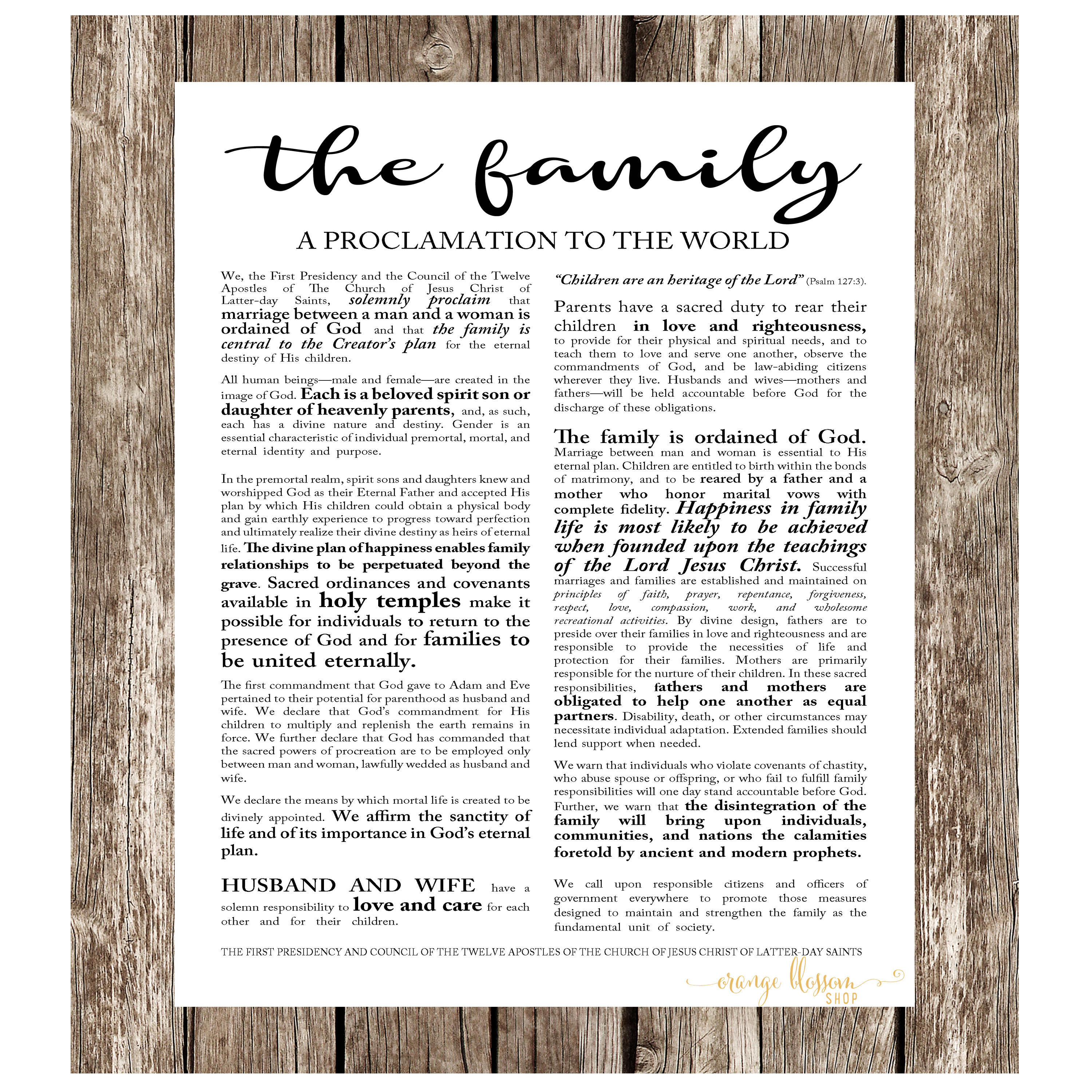 picture relating to The Family a Proclamation to the World Printable identified as LDS Spouse and children Proclamation, Electronic Record 18x24, 16x20, 11x14, 8x10, LDS Printable, Proclamation towards the World-wide