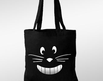 Smiling cat - tote bag