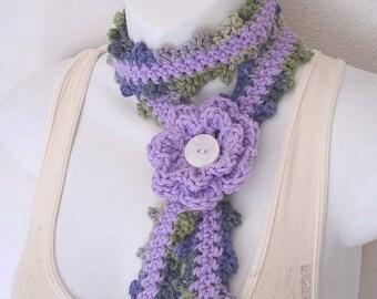 Crochet Skinny Scarf Pattern Only