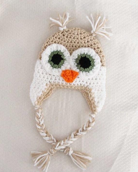 Crochet Owl Hat Pattern Newborn To 18 Months Pdf Etsy