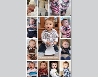 6x12 Photoshop Collage Template - Layered PSD File