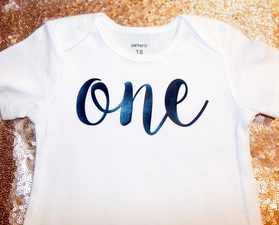 972a6be4 Ready2Ship 1st Birthday One 9 12 18 24 Months Bodysuit Outfit   Etsy