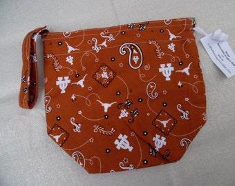 Small Reversible Knitting Project bag, UT