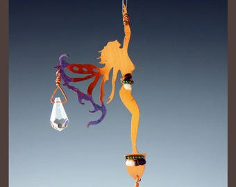 10% OFF - Star Reaching Copper Fairy with Crystal Rainbow Prisms