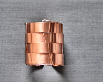 Copper bracelet // Copper Cuff bracelet // Nomad Cuff // arm cuff // wide copper cuff bracelet wide copper bracelet raw copper bracelet